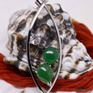 Silver Jade Pendant Necklace [style11]