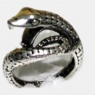 Tibetan Silver Snake Serpent Ring
