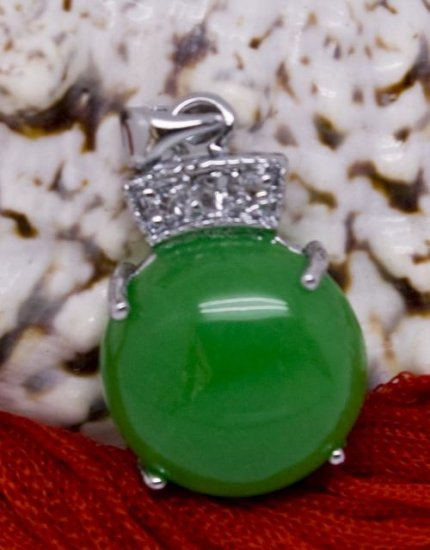 Silver Jade Crystal Pendant Necklace [style7]