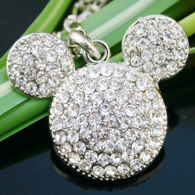 Swarovski Crystal Mickey Mouse Pendant Necklace