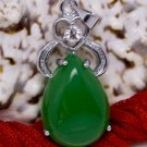 Silver Jade Crystal Pendant Necklace [style10]
