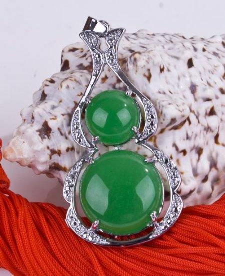 Silver Jade Pendant Necklace [style8]