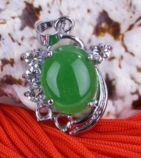 Silver Jade Crystal Pendant Necklace [style11]