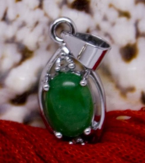 Silver Jade Crystal Pendant Necklace [style12]