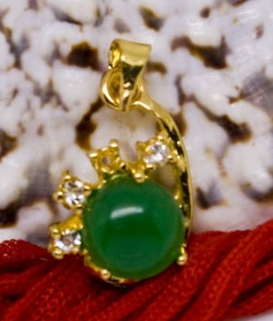 18K Gold Jade Crystal Pendant Necklace [style11]