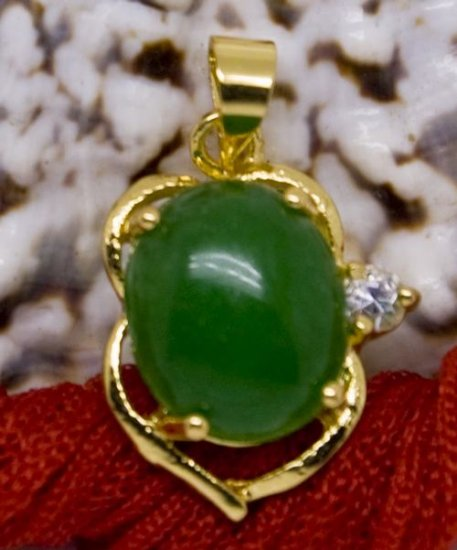 18K Gold Jade Crystal Pendant Necklace [style6]