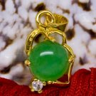 18K Gold Jade Crystal Pendant Necklace [style9]
