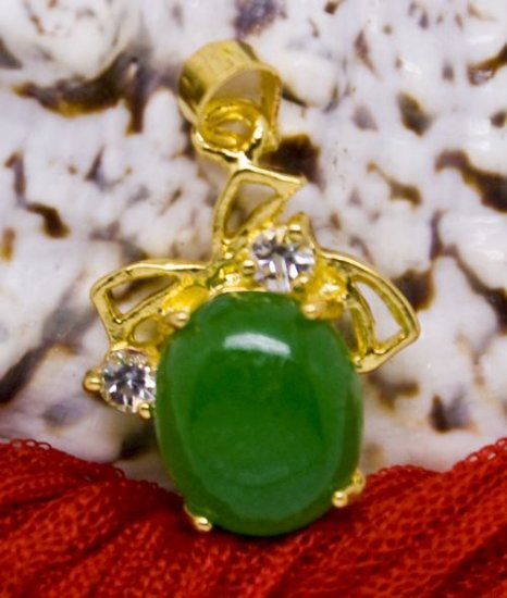 18K Gold Jade Crystal Pendant Necklace [style10]