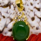 18K Gold Jade Crystal Pendant Necklace [style12]