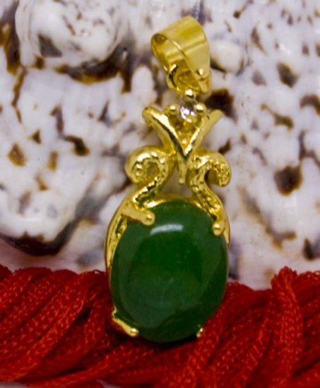 18K Gold Jade Crystal Pendant Necklace [style13]