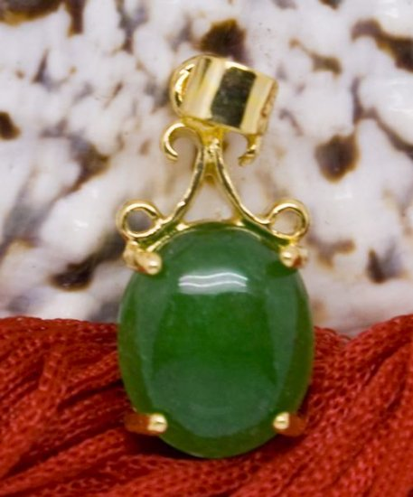 18K Gold Jade Pendant Necklace [style3]