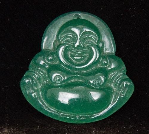 Jade Buddha (Buddhist) Amulet Talisman Pendant Necklace [style4]