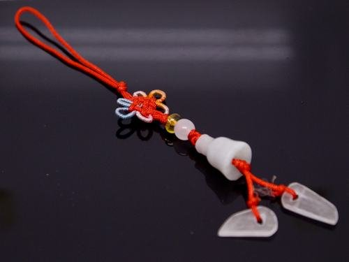 Chinese Knot & Jade Cell Phone Charm [style22]