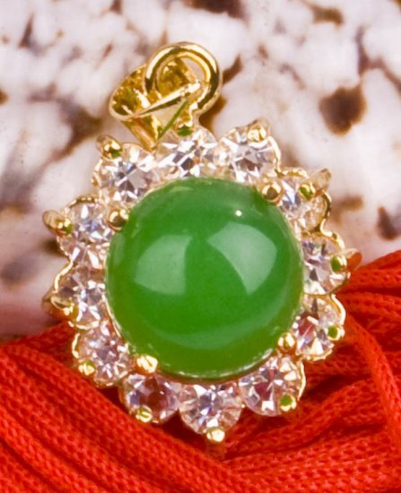 18K Gold Jade Crystal Pendant Necklace [style16]