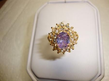 18K Gold Amethyst Crystal Ring