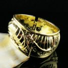 Exotic Trendy Gold Bangle Bracelet