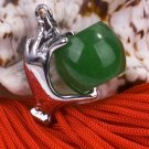 Silver Jade Hand Pendant Necklace
