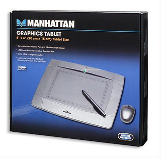 """Manhattan Graphics Tablet Wireless Mouse and Pen 4"""" x 5.5"""""""