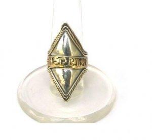 "Tibet Silver Tibetan ""Om Mani Padme Hum"" Buddhist Prayer Sutra Ring"