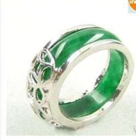 Genuine Jade Silver Ring