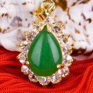 18K Gold Jade Crystal Pendant Necklace [style18]