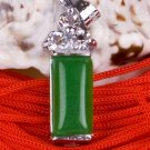 Silver Jade Crystal Pendant Necklace [style18]