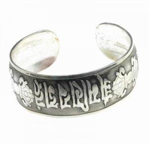 Antique Silver Tibetan Silver Cuff Bangle Bracelet