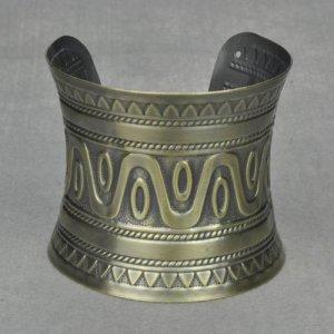 Antique Bronze Copper Roman Greek Style Cuff Bangle Bracelet