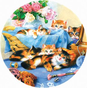 Basket of Kittens - 500 piece SunsOut puzzle - for Ages 12+