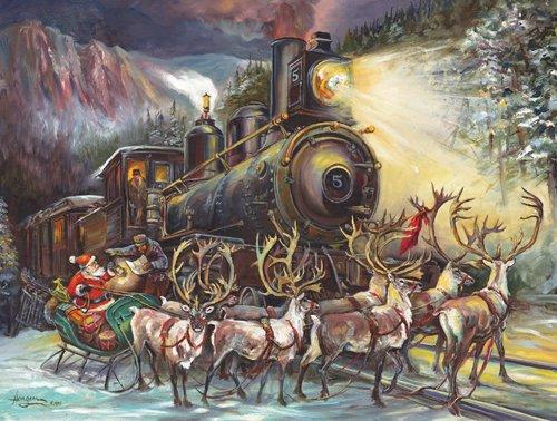 Santa Asking Directions - 500 piece SunsOut puzzle - for Ages 12+