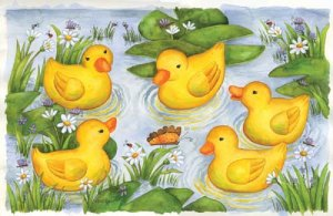 Rubber Duckies - 100 piece SunsOut puzzle - for Ages 6+
