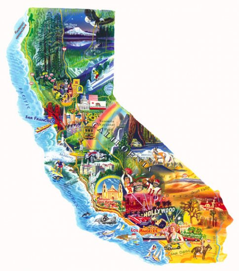Sun & Fun - California - 1,000 piece Shaped SunsOut puzzle - for Ages 12+