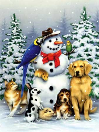 Winter Friends - 550 piece White Mountain puzzle - for Ages 12+