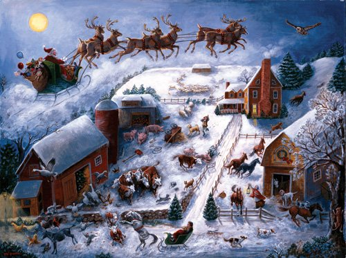 Christmas in the Countryside - 500 piece SunsOut puzzle - for Ages 12+