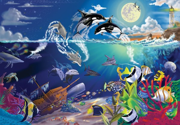 Underwater Playground - 200 piece Melissa & Doug puzzle - for Ages 8+