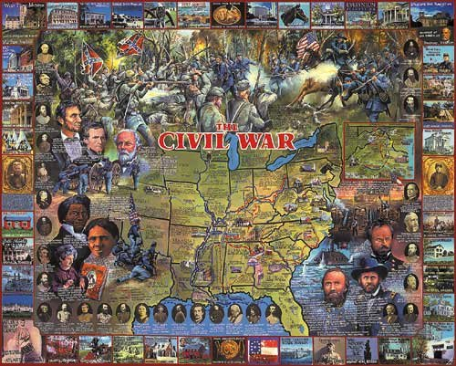 The Civil War - 1,000 piece White Mountain puzzle - for Ages 12+