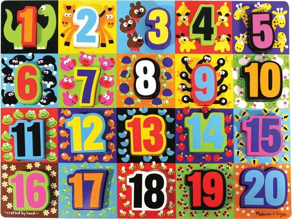 Jumbo Numbers Chunky - 20 piece Melissa & Doug puzzle - Ages 3+