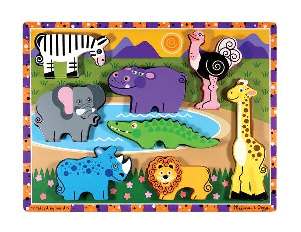 Safari Chunky - 8 piece Melissa & Doug puzzle - Ages 2+