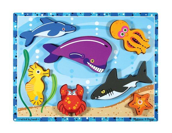 Sea Creatures Chunky - 7 piece Melissa & Doug puzzle - Ages 2+