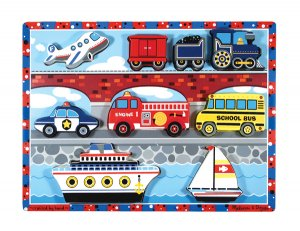 Vehicles Chunky - 9 piece Melissa & Doug puzzle - Ages 2+