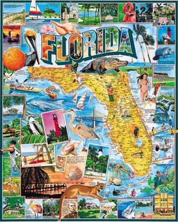 Florida - 1,000 piece White Mountain puzzle - for Ages 12+