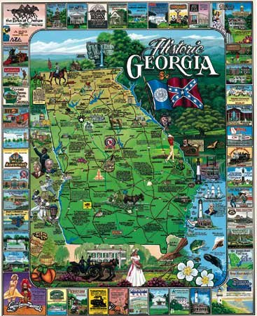 Historic Georgia - 1,000 piece White Mountain puzzle - for Ages 12+