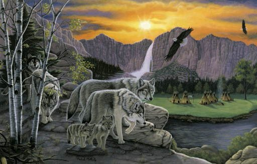 Path of the Wolf Spirit - 1,000 piece SunsOut puzzle - for Ages 12+