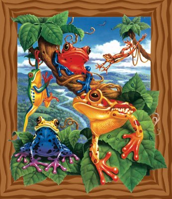 Frogs - 200 piece SunsOut puzzle - for Ages 7+