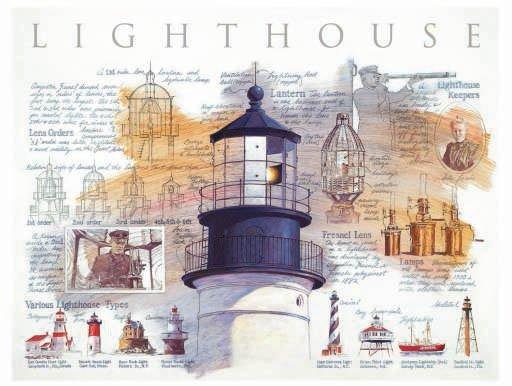 Lighthouse Diagram - 500 piece SunsOut puzzle - for Ages 12+