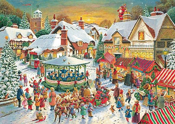 Christmas Market - 1,000 piece Ravensburger puzzle - for Ages 12+