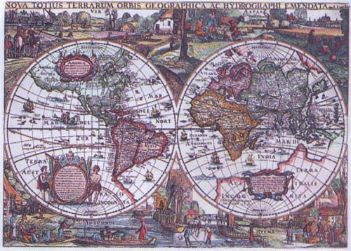 Historic World Map 1636 - 1,500 piece Ravensburger puzzle - for Ages 12+