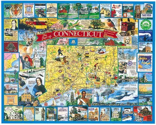 The Best of Connecticut - 1,000 piece White Mountain puzzle - for Ages 12+