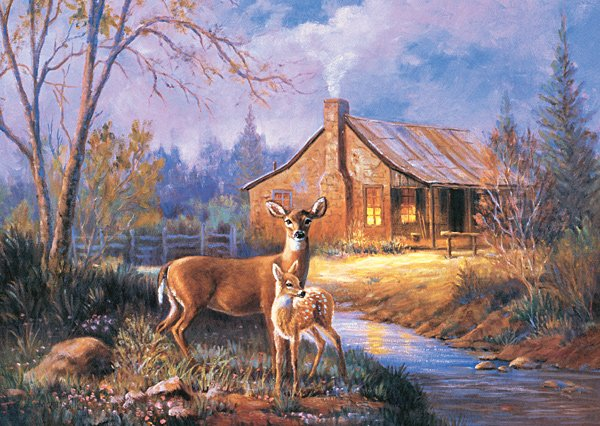 Woodland Deer - 1,000 piece Ravensburger puzzle - for Ages 12+