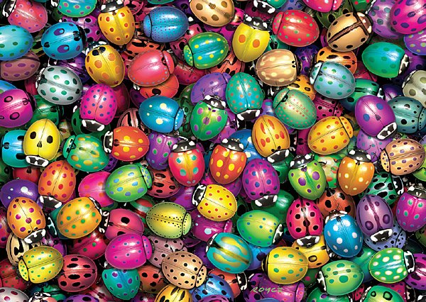 Lots O' Ladybugs - 1,000 piece Ravensburger puzzle - for Ages 12+
